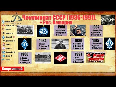 Все чемпионы Российской Империи и СССР.  От Динамо до Спартака.