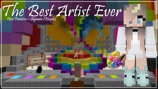 The Best Artist Ever | Pixel Painters + Skywars (Kinda)