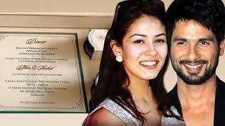 Shahid Kapoor & Mira Rajputs WEDDING INVITATION LEAKED