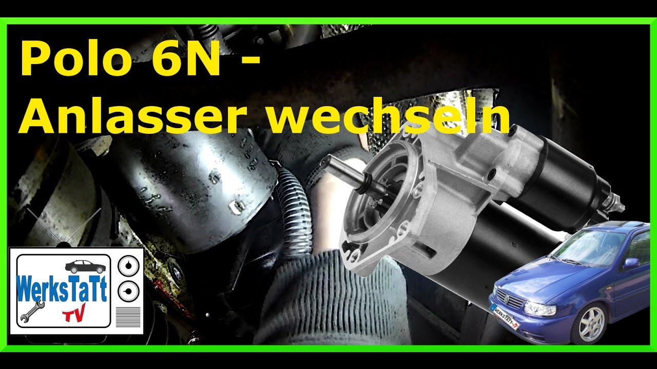 vw polo 6n anlasser wechseln replace starter werkstatt. Black Bedroom Furniture Sets. Home Design Ideas