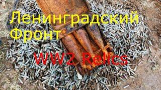 Коп по Войне.Лен.Фронт,4 дня в лесу. 2-я часть WWII Metal Detecting Part 2