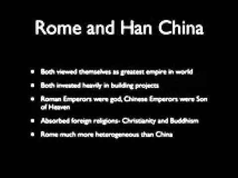 rome and han empires Although very much separated on the eastern hemisphere, degradation of the roman empire and han china came in similar waves the results of the ruined civilizations, however, varied in impact of .