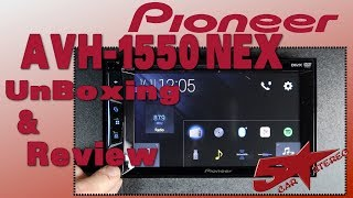 The Pioneer AVH 1550NEX unboxing and review