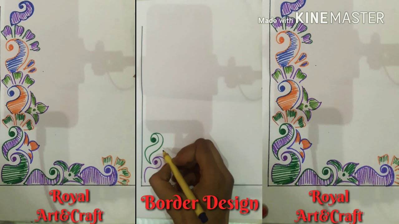 Quick Easy Art Border Designs For Projects Corner Design For