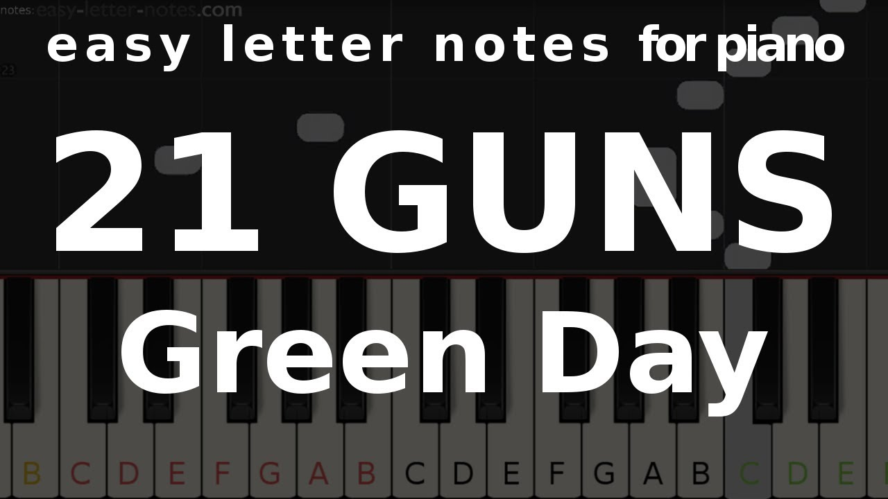 recipe: 21 guns piano letter notes [8]