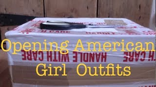 Opening Two American Girl Outfits. One Retired. One Historical.