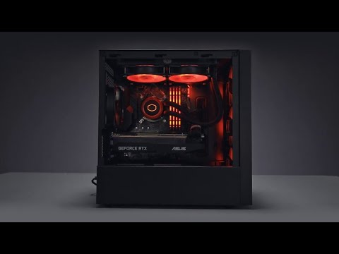 Coolermaster Masterbox Nr400 Glass Micro Tower Pc Gaming