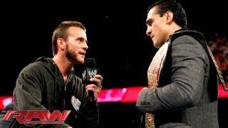 CM Punk challenges new World Heavyweight Champion Alberto Del Rio to a match: Raw, June 17, 2013