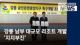 [뉴스리포트]강릉 남부 대규모 리조트 개발, 지지부진/…