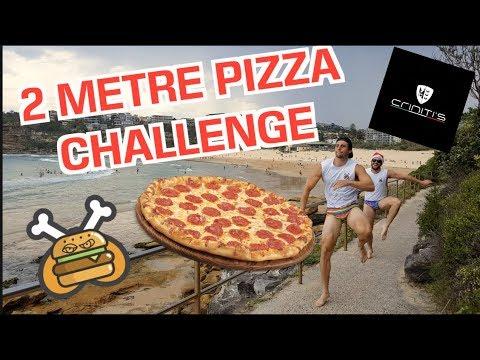 Crinitis 2 METERS Pizza Challenge     (ft Take On Me Parody)
