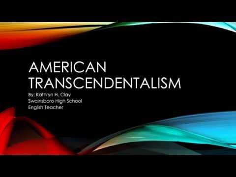 Transcendentalism Homework Video