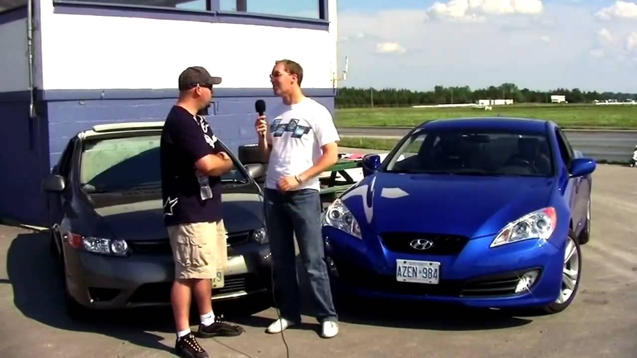 Hyundai Genesis Coupe 20T vs Honda Civic Si Coupe Track