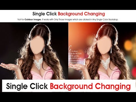 One Click Photo Background Change Free Photoshop Action  in Photoshop 2018