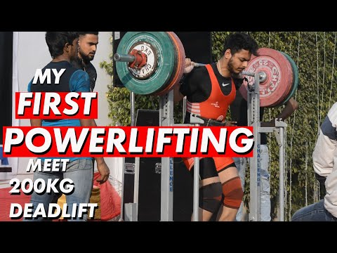 MY FIRST POWERLIFTING MEET | 200KG DEADLIFT|