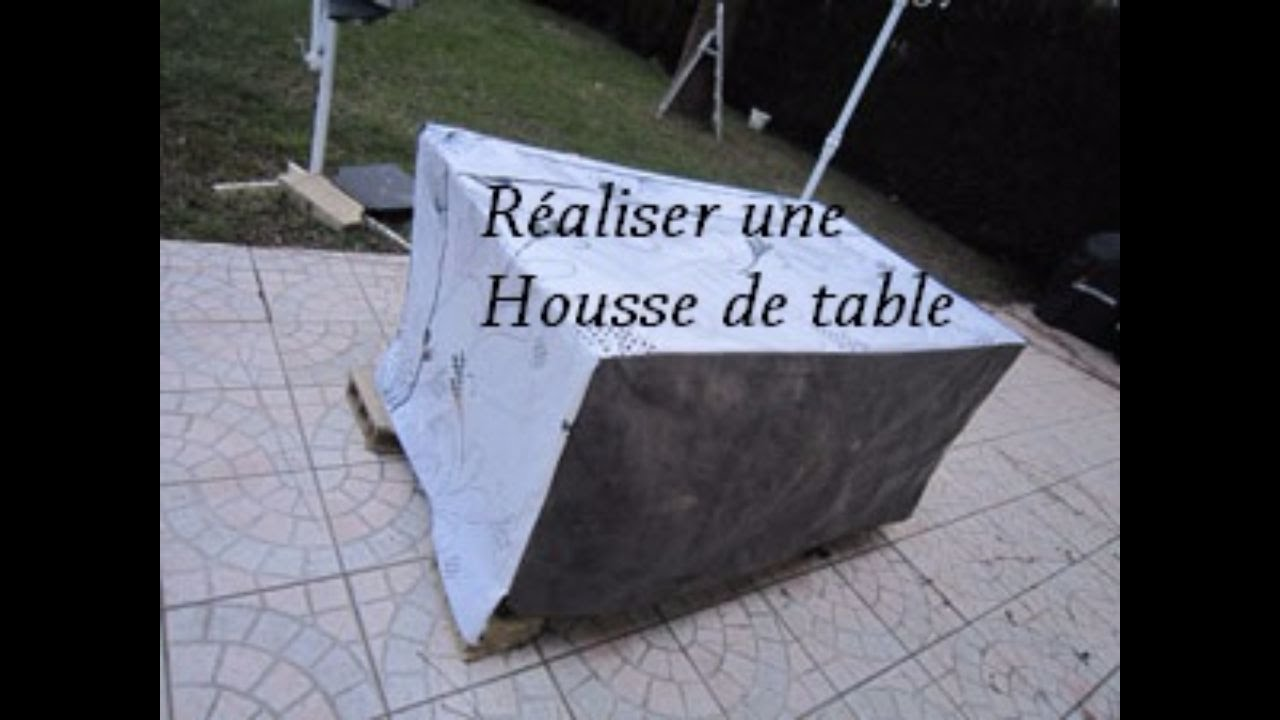 Housse Table Exterieur Sew A Table Outside Cover Recycling Two Layers Oilcloth