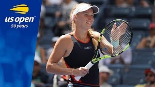 Caroline Wozniacki Defeats Samantha Stosur at the 2018 US Open