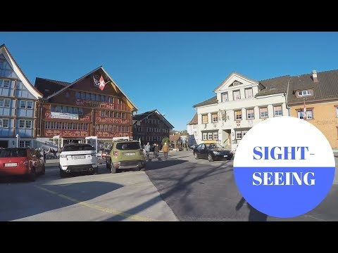 Sightseeing in Appenzell in SWITZERLAND