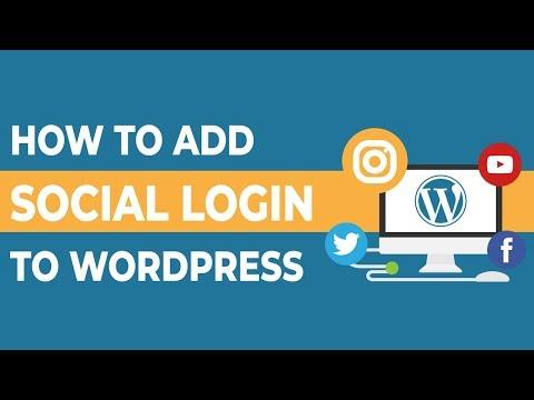 How To Add Social Login To Wordpress 2018