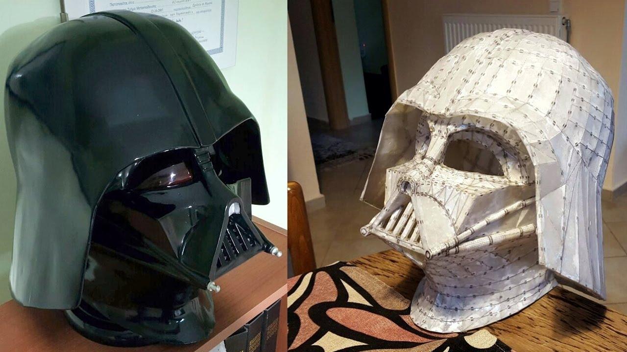 Homemade Darth Vader Helmet Youtube