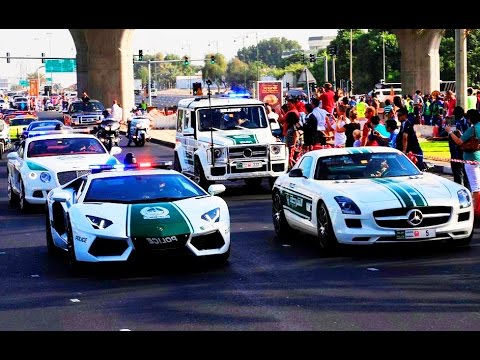 Dubai Police 2015 The World S Best Police Cars Dubai Police Supercars Dubaitube Youtube