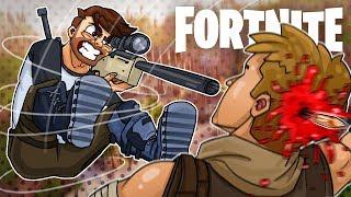The Triple 120 No Scope Death Shot! - Fortnite Battle Royale Sniper Shootout!