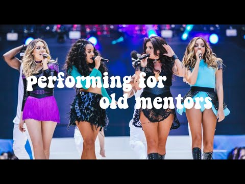 Little Mix Performing For Their Old Mentors