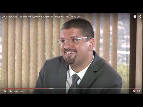 David Nakache -  Marine Brenier, Le Forum AZUR TV - NICE MATIN le 16 10 2014