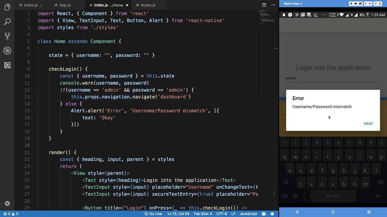 React Native Tutorial 25: Login Application - Part 4