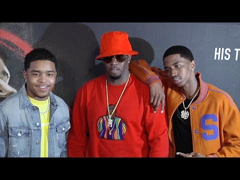 """Sean Diddy Combs with Justin and Christian Combs """"Chris Brown: Welcome to my Life"""" Premiere"""