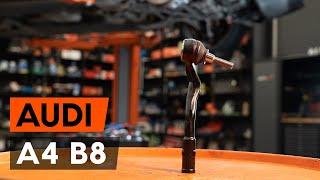 Montavimo Skersinės vairo trauklės galas AUDI A4 (8K2, B8): nemokamas video