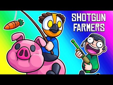 Shotgun Farmers Funny Moments - Capture the Piggy Mode!