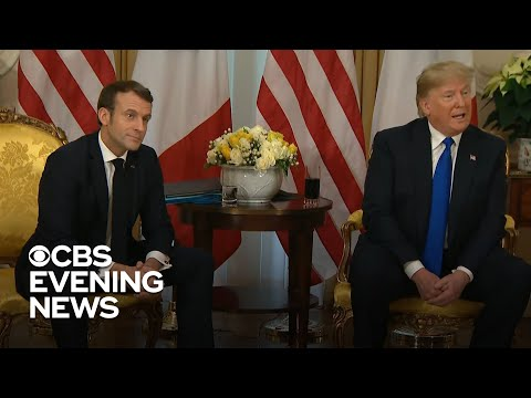 Trump clashes with Macron at NATO summit