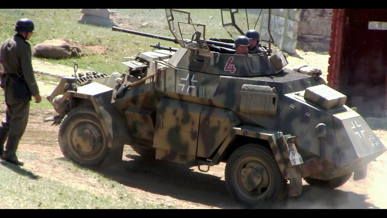 Armored Vehicles For Sale >> Ořechov 1945 (Sdkfz 222 - Katrin) - YouTube