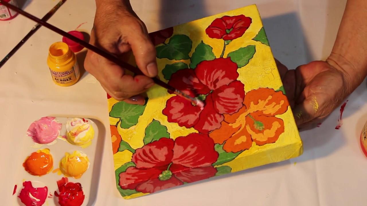 Pintura Em Tela Com Tecido Painting On Screen And Fabric Pintura
