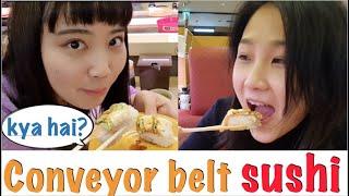 Conveyor belt sushi Kya hai? sasti hai? Veg menu hai? Accha hai?