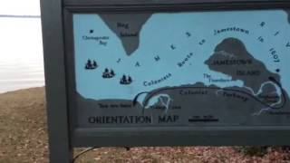 Jamestown Bay with map