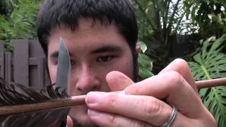 How To Make A Hunger Games District 12 Arrow Part 3 - Fletching