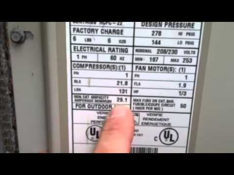 110 220 Volt Single Phase Motor Wiring Diagram Checking Wire Size Ac Units 2 Youtube