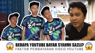 Berapa Youtube Bayar Syahmi Sazli?