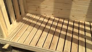 Дровник у бытовки(Производим и продаём дачные деревянные бытовки. Используем качественный материал. Посмотрите наш сайт:..., 2015-06-06T18:38:16.000Z)