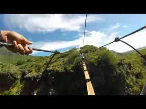 Nepalese Bridge Crossing at Casela Park, Mauritius
