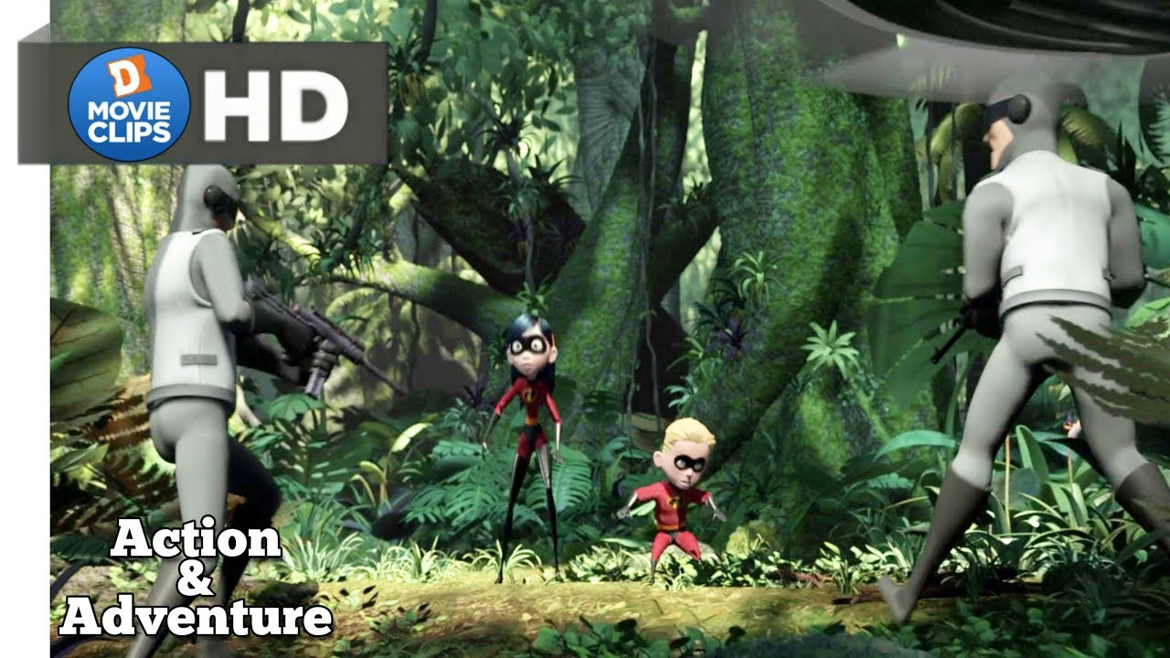 The Incredibles Hindi (09/12) Attack On SuperHero's Family Action Scene MovieClips