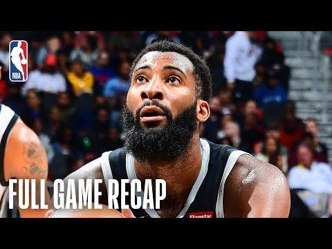 PISTONS vs HAWKS   Andre Drummond Puts Up 26 & 21   February 22, 2019