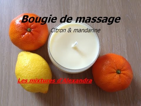 bougie de massage aux huiles essentielles de citron et de. Black Bedroom Furniture Sets. Home Design Ideas