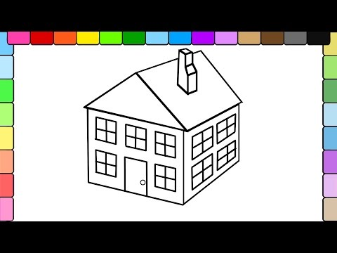 Thumbnail: Learn to Color for Kids and Color this 3D House Coloring Page