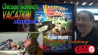 #887 Chicago Gaming VACATION AMERICA Pinball Machine -RARE! TNT Amusements