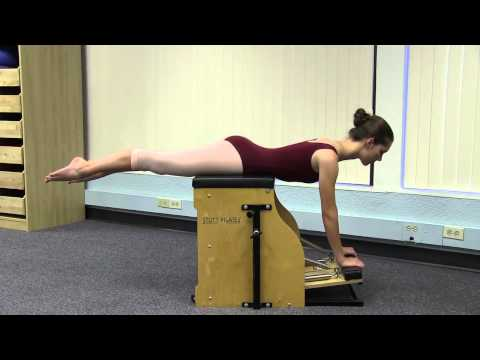 PILATES BALLET 1214 Pilates Swan Dive on Stability Chair for Ballet Dancers HD 720p