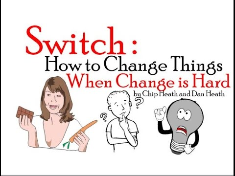 switch how to change things when change is hard synopsis Video review for switch by chip and dan heath switch book summary - how to change when change is hard - chip and dan heath switch by dan & chip.