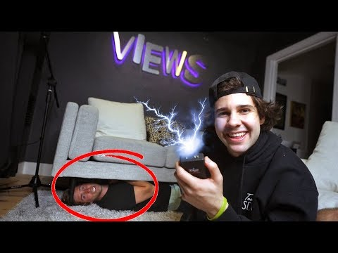 TAZER Hide & Seek in DAVID DOBRIK'S house! *if found, get shocked*