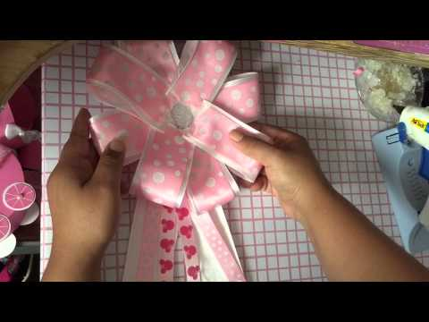 Minnie mouse baby shower corsage  YouTube